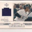 LARRY WALKER ROCKIES 2001 UD PROS & PROSPECTS SPECIALTY JERSEY CARD