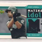 MIKE LOWELL MARLINS 2004 UPPER DECK MATINEE IDOLS JERSEY CARD