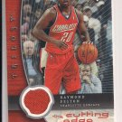 RAYMOND FELTON BOBCATS 2005-06 UPPER DECK TRILOGY CUTTING EDGE JERSEY CARD