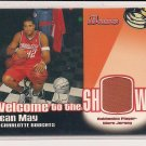 SEAN MAY BOBCATS 2005-06 BOWMAN WELCOME TO THE SHOW JERSEY CARD