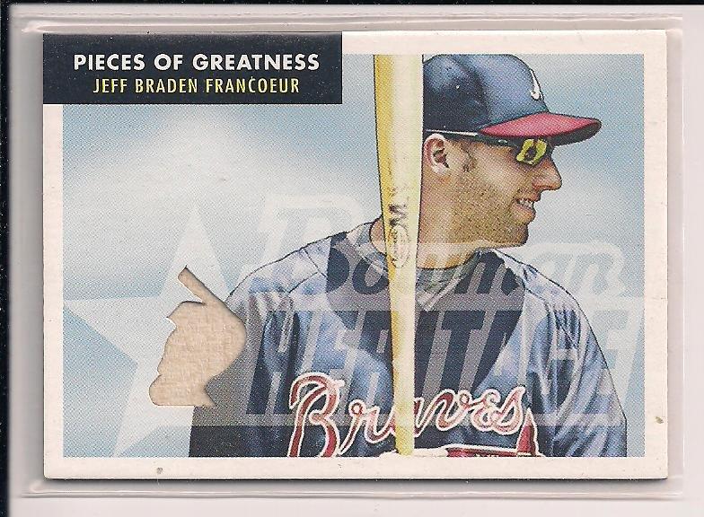JEFF BRADEN FANCOEUR BRAVES 2007 POG BAT CARD