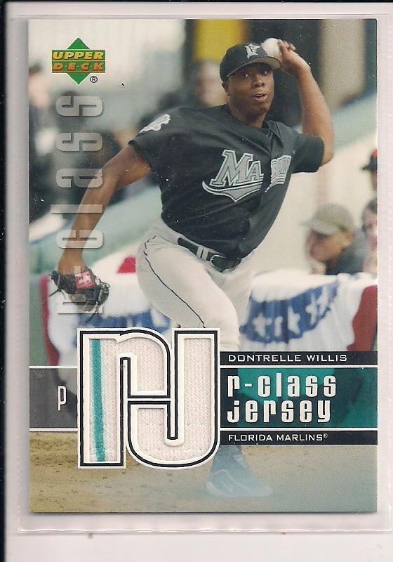DONTRELLE WILLIS 2004 UPPER DECK R-CLASS JERSEY CARD