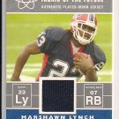 MARSHAWN LYNCH BILLS 2007 BOWMAN FABRIC OF THE FUTURE JERSEY CARD