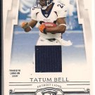 TATUM BELL BRONCOS/LIONS 2007 DONRUSS THREADS JERSEY CARD