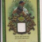 TIM HUDSON BRAVES 2007 UPPER DECK ARTIFACTS APPAREL JERSEY CARD #'D 107/130!