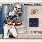 EDDIE BERLIN TITANS 2002 PACIFIC PRIVATE STOCK GAME-WORN JERSEY CARD