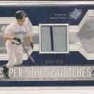 TODD HELTON ROCKIES 2002 SPX SUPER STARS SWATCHES CARD