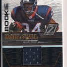 VERNAND MORENCY TEXANS 2005 ZENITH ROOKIE ROLL CALL JERSEY CARD