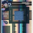 COURTNEY ROBY TITANS 2005 LEAF CERTIFIED FRESHMAN FABRIC JERSEY CARD