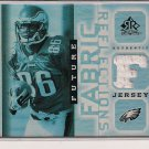 REGGIE BROWN EAGLES 2005 UD REFLECTIONS FUTURE FABRICS JERSEY CARD