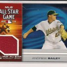 ANDREW BAILEY A'S 2010 TOPPS MLB ALL-STAR GAME WORKOUT JERSEY CARD