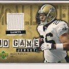 DEUCE MCALLISTER SAINTS 2006 UPPER DECK GAME JERSEY