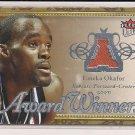 EMEKA OKAFOR BOBCATS 2007-08 FLEER ULTRA AWARD WINNERS JERSEY CARD #'d 1/199!