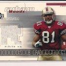 RASHAUN WOODS 49ER'S 2004 UPPER DECK ROOKIE FABRICS JERSEY CARD