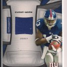 RAMSES BARDEN GIANTS 2009 DONRUSS CERTIFIED FABRIC OF THE GAME ROOKIE JERSEY CARD #'D 053/100!