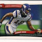 SIDNEY RICE VIKINGS 2010 TOPP PEAK PERFORMANCE INSERT CARD