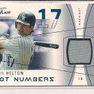 TODD HELTON 2004 FLEER FLAIR HOT NUMBERS JERSEY CARD #'D 069/250!