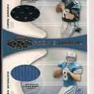 CHRIS WEINKE/MIKE MCMAHON 2001 PLAYOFF HONORS ROOKIE TANDEMS JERSEY CARD