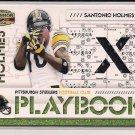 SANTONIO HOLMES 2008 DONRUSS GRIDIRON GEAR PLAYBOOK JERSEY CARD #'D 094/250!