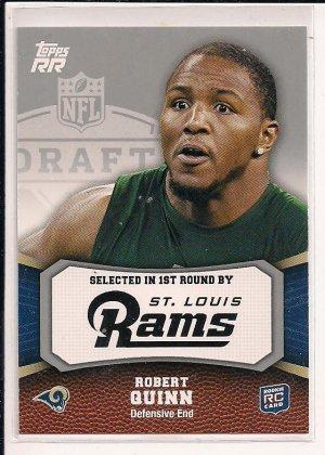 ROBERT QUINN RAMS 2001 TOPPS RR ROOKIE CARD