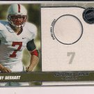 TOBY GERHART VIKINGS 2010 PRESSPASS GAME-USED JERSEY CARD