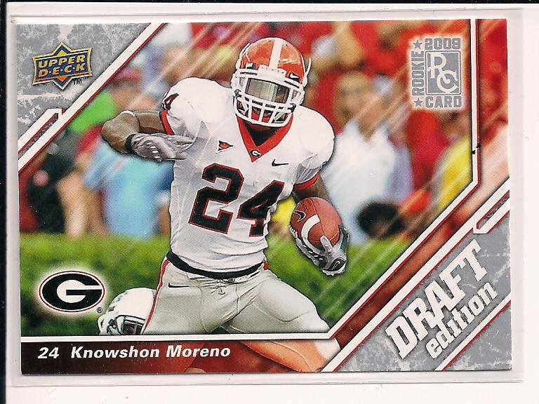 KNOWSHON MORENO 2009 UPPER DECK DRAFT EDITION ROOKIE CARD
