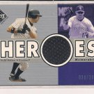 TODD HELTON 2002 UPPER DECK HEROES JERSEY CARD #'D 030/200!