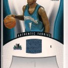 RASHAD MCCANTS TIMBERWOLVES 2006-07 SP GAME USED JERSEY CARD