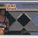 DESAGANA DIOP CAVALIERS 2001-02 TOPPS FIRST SHOT JERSEY CARD