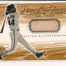 PRESTON WILSON MARLINS 2001 SP GAME USED BAT CARD