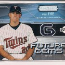 WILLIE EYRE TWINS 2004 UD FUTURE GEMS JERSEY
