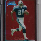 CHRIS BROWN TITANS 2003 BOWMAN CHROME UNCIRCULATED RED REFRACTOR