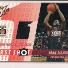 JOHN SALMONS 76ER'S 2002-03 TOPPS EXPECTIONS FIRST SHOT JERSEY CARD