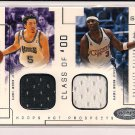 HEDO TURKOGLU - QUENTIN RICHARDSON 2002-03 FLEER CLASS OF 00 DUAL JSY