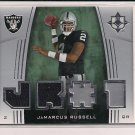 JAMARCUS RUSSELL RAIDERS 2007 ULTIMATE ROOKIE MATERIALS JERSEY