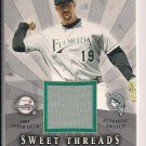 MIKE LOWELL MARLINS 2004 SWEE SPOT THREADS JERSEY