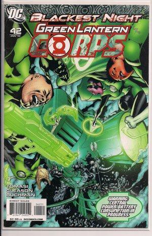 GREEN LANTERN CORPS #42 2010 BLACKEST NIGHT