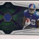 MARIO MANNINGHAM GIANTS 2008 UD ICONS FUTURESTAR MATERIALS ROOKIE JERSEY