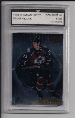 MILAN HEJDUK AVALANCHE 1999 BOWMANS BEST GRADED FGS 10!
