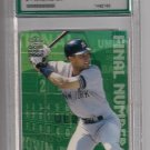 DEREK JETER YANKEES 2000 CROWN ROYALE FINAL NUMBERS GRADED 9