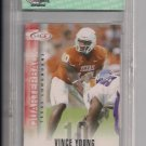 VINCE YOUNG TEXAS 2006 SAGE ROOKIE CARD GRADED PGI 10!