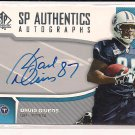 DAVID GIVENS TITANS 2006 SP AUTHENTICS RC AUTO