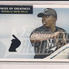 DONTRELLE WILLIS 2007 BOWMAN HERITAGE PIECES OF GREATNESS JERSEY