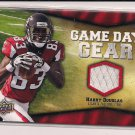 HARRY DOUGLAS FALCONS 2009 UD GAME DAY GEAR JERSEY CARD
