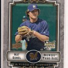 MAT GAMEL BREWERS 2009 UD PIECE OF HISTORY ROOKIE CARD