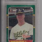 MARK MCGWIRE A'S 1987 DONRUSS ROOKIES GRADED BECKETT 8!