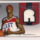 DORELL WRIGHT HEAT 2004-05 SP RETRO REMNANTS RC JERSEY #104/499!