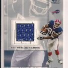 ERIC MOULDS BILLS 2001 SP GAME USED JERSEY CARD