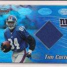 TIM CARTER GIANTS 2002 BOWMAN'S BEST JERSEY CARD
