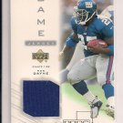 2001 UPPER DECK PROS & PROSPECTS RON DAYNE GIANTS GAME JERSEY